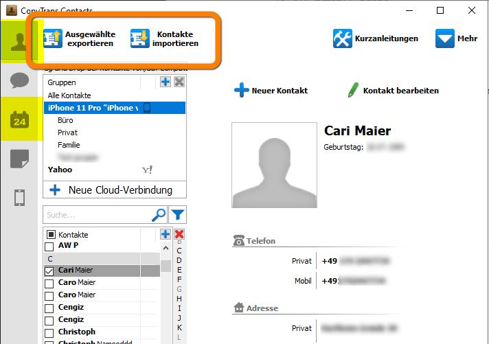 Cloud Kalender und/oder iCloud Kontakte werden nicht synchronisiert