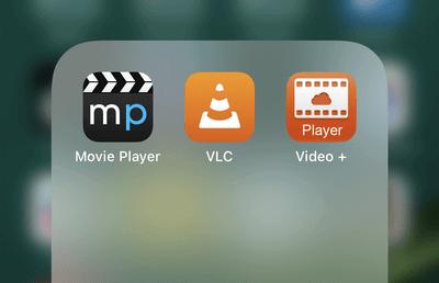 Installierte Video-Apps am iPhone