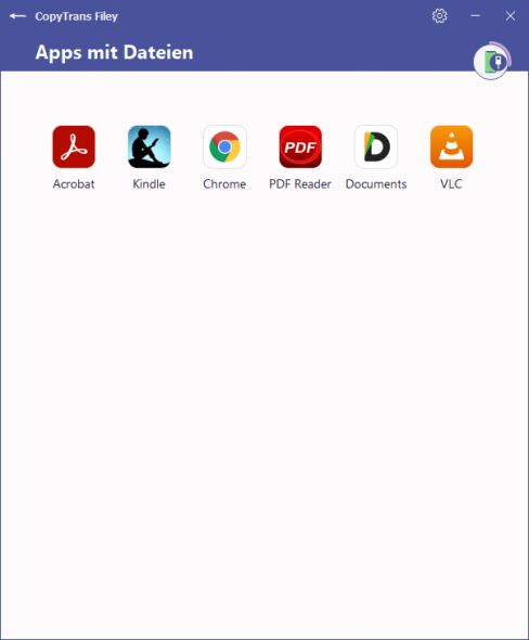 Liste der Apps