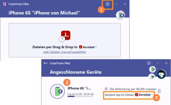 Standard-App ändern