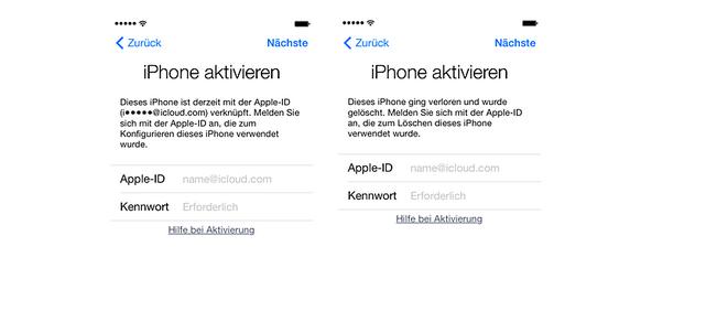 iPhone nach Anweisungen aktivieren