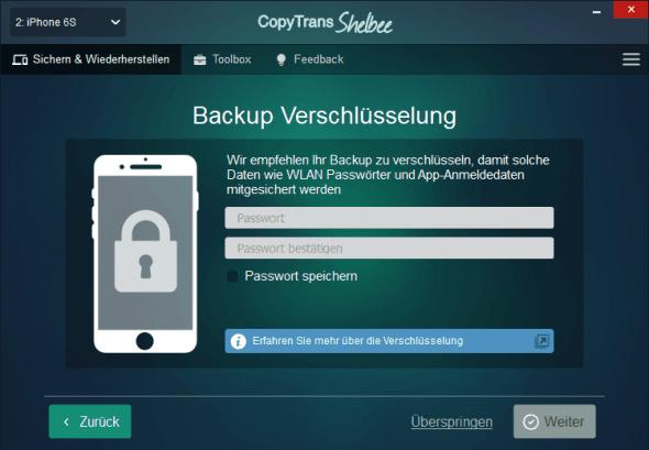 Backup Verschlüsselung iPhone