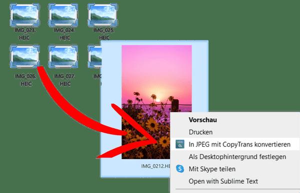 HEIC Fotos in Windows PC anschauen und in JPG konvertieren