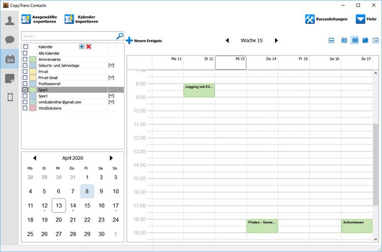Kalender von Gmail auf iPhone kopieren