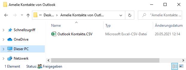 Kontakte von Outlook iPhone importieren