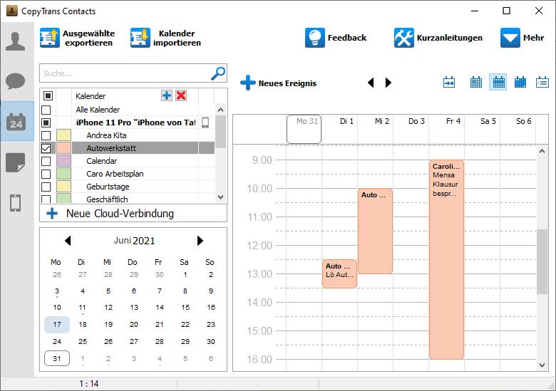 Termine von Outlook auf iPhone übertragen