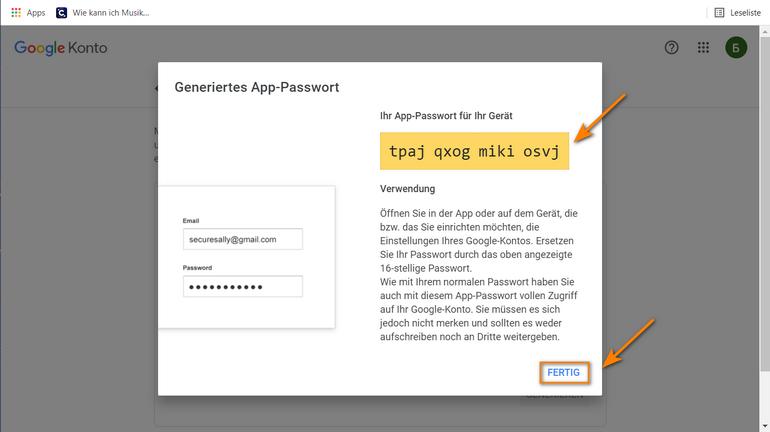 selbst generiertes Passwort für CopyTrans Contacts