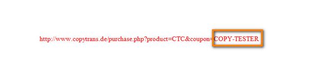 Gutscheincode im Programmeintragen