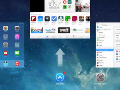 Laufende Apps unter iOS 7 schliessen