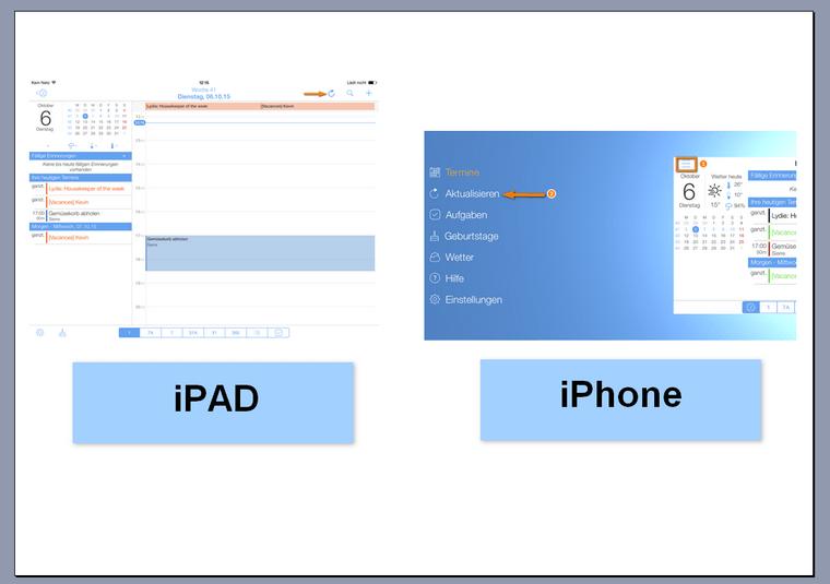 miCal für iPhone und iPad aktualisieren