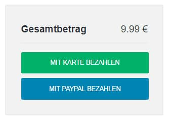 Mit Karte oder PayPal bezahlen