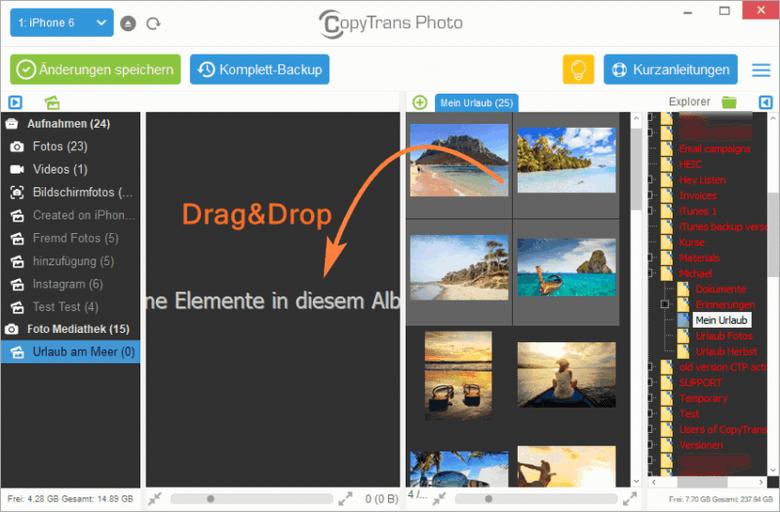 Fotos vom PC auf iPhone leicht übertragen