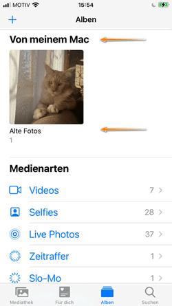 Ordner von meinem Mac im iPhone