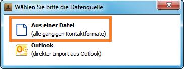 Kontakte aus einer Datei importieren
