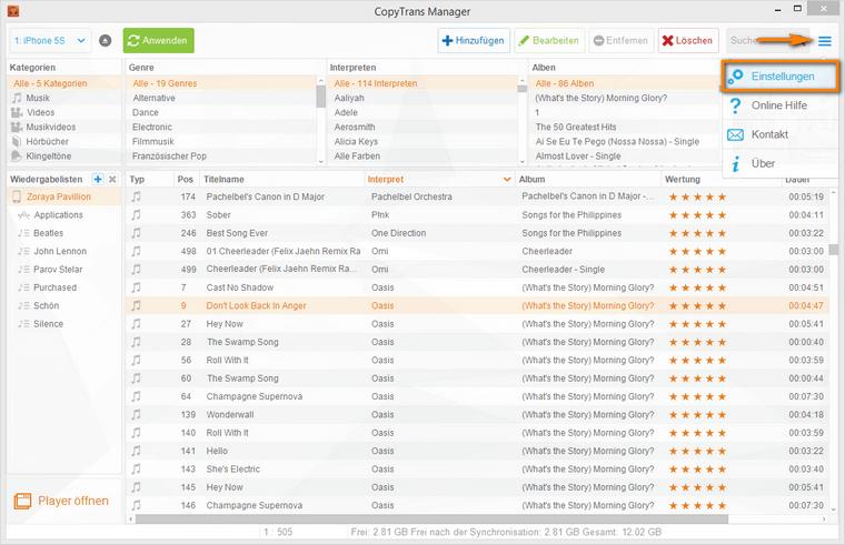 kostenlose iTunes Alternative