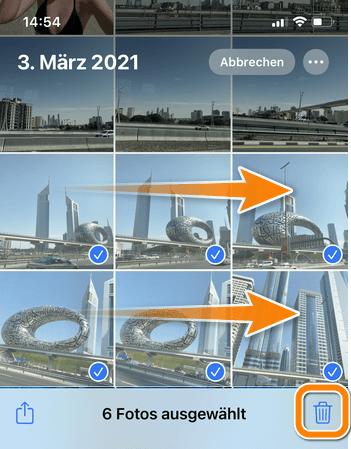 iPhone alle Bilder löschen auf dem iOS Gerät