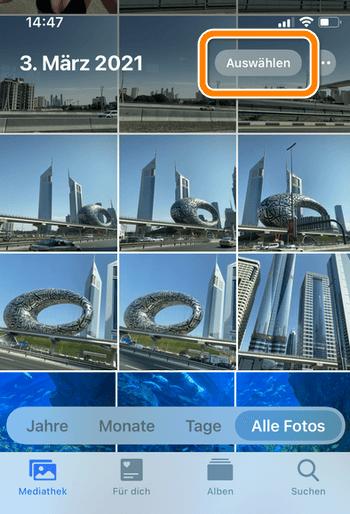 Alle Fotos iPhone löschen auf iPhone