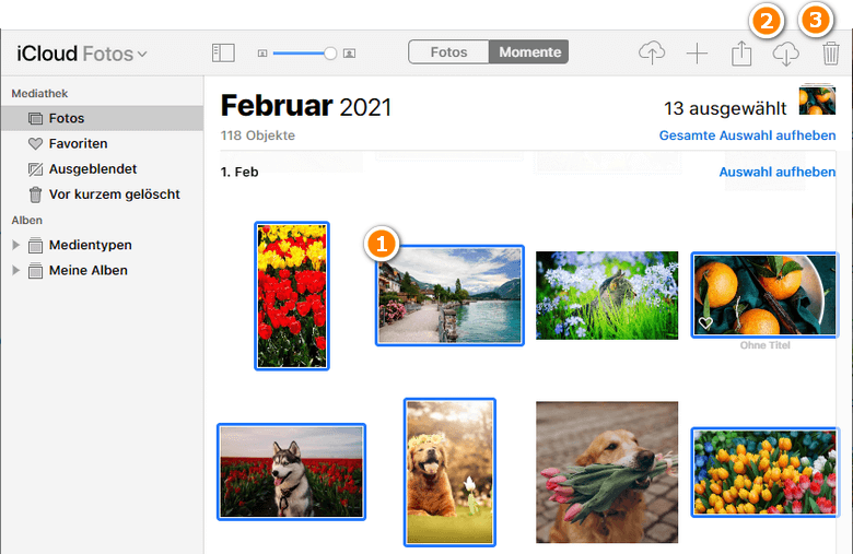 iCloud Fotomediathek löschen