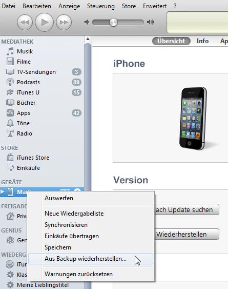 Notizen aus iPhone Backup auslesen