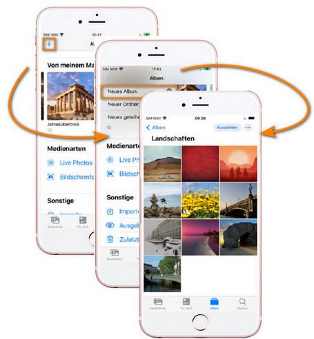 erstellen Sie ein neues Album auf iPhone