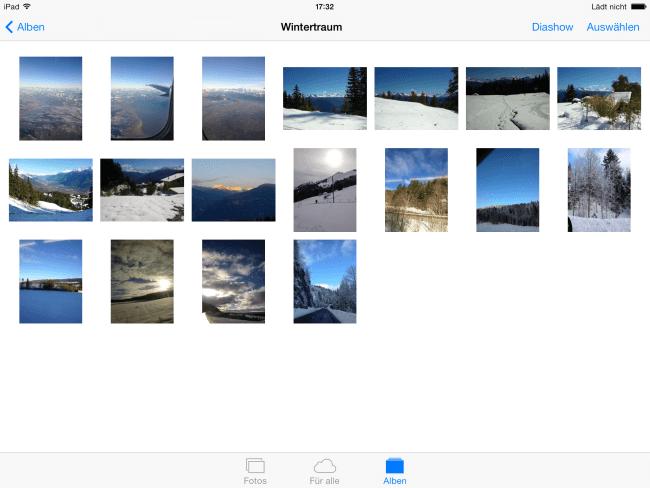 Fotos vom iPhone auf iPad laden