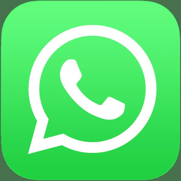 WhatsApp Logo auf der Seite