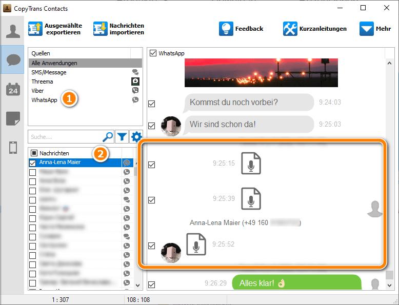 WhatsApp Sprachnachrichten auf PC sichern