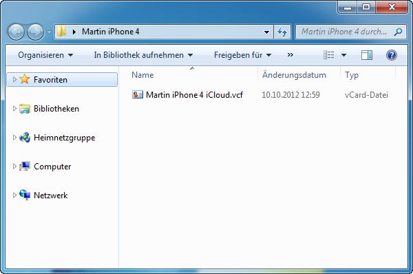 iPhone Kontakte exportieren