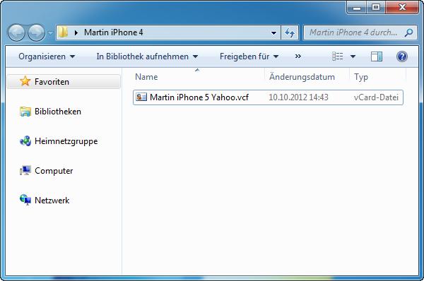 iPhone Kontakte Yahoo importieren