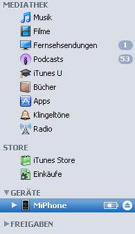 ipod icon in itunes