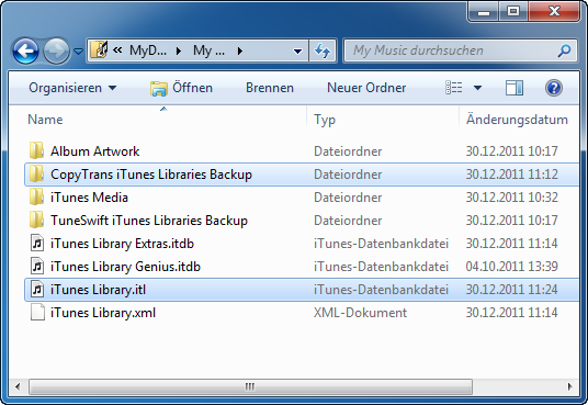iTunes Library itl