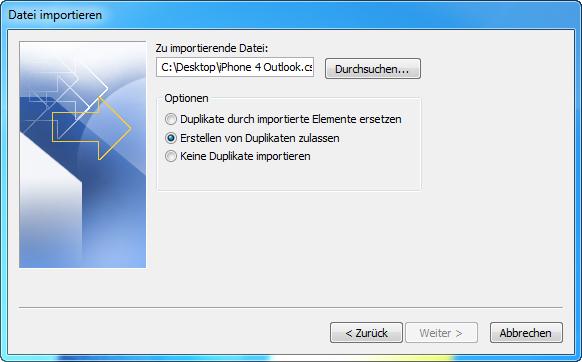 iphone kontakte in outlook importieren