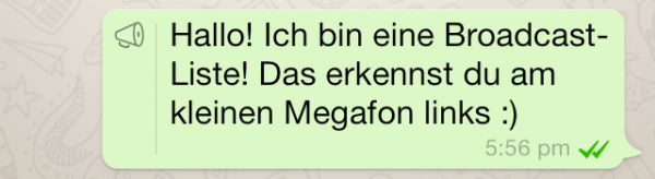 WhatsApp Broadcast-Liste