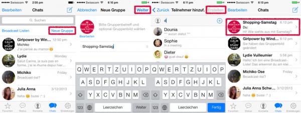 whatsapp neue gruppe erstellen