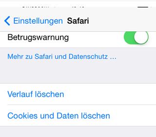 iPhone Browserverlauf löschen
