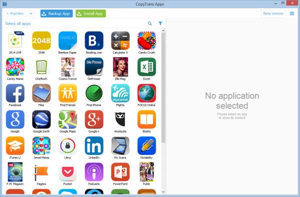copytrans apps für iPad mini