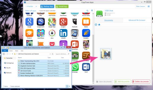 iPhone USB Stick Funktion für Dokumente