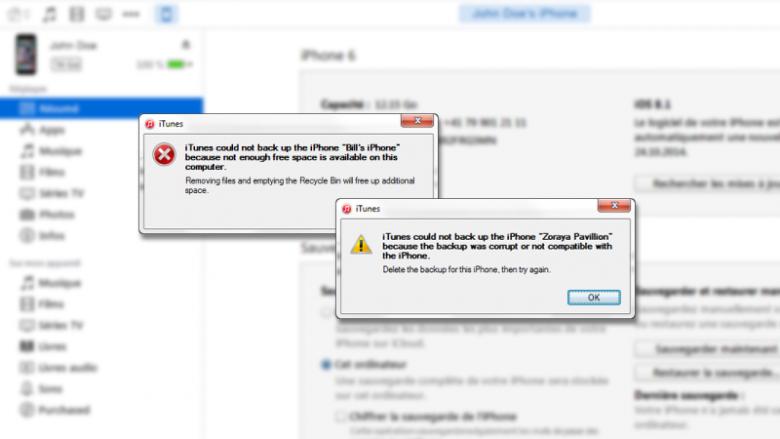 iTunes Fehlermeldungen