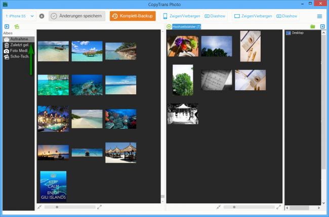 iPhone und iPad Bilder unter den Aufnahmen