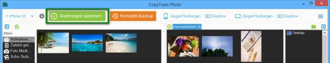 iOS Bilder verwalten