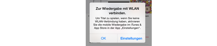 Wiedergabe Apple Music offline