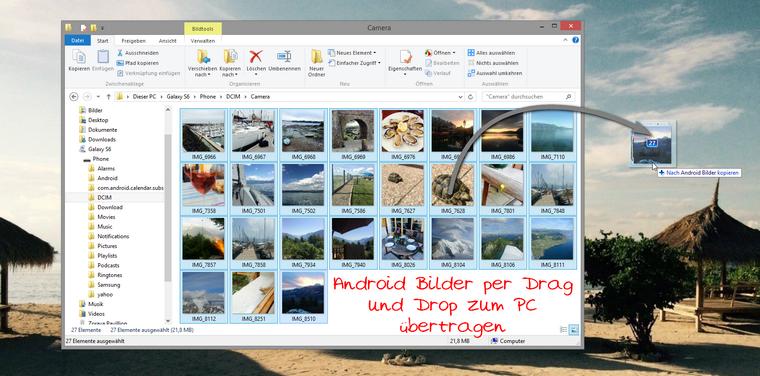 Bilder vom Android zum PC übertragen