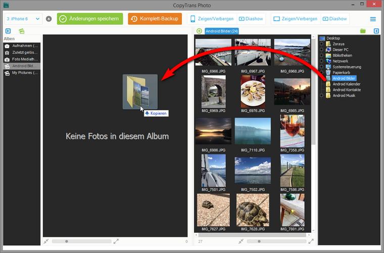 Bilder ohne iTunes vom PC zum iPhone übertragen
