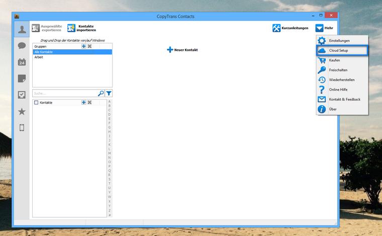 iCloud Kontakte verwalten