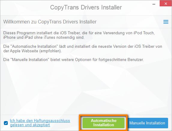 iOS Treiber ohne iTunes installieren