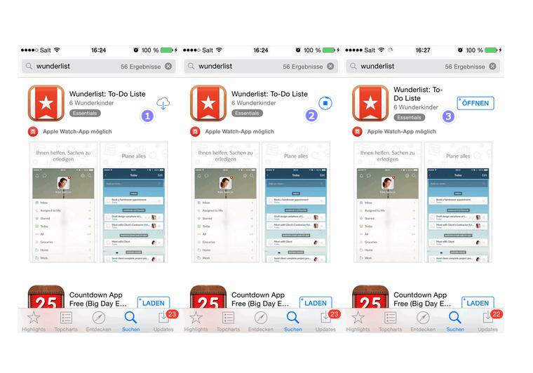 Apps aus dem iTunes herunterladen