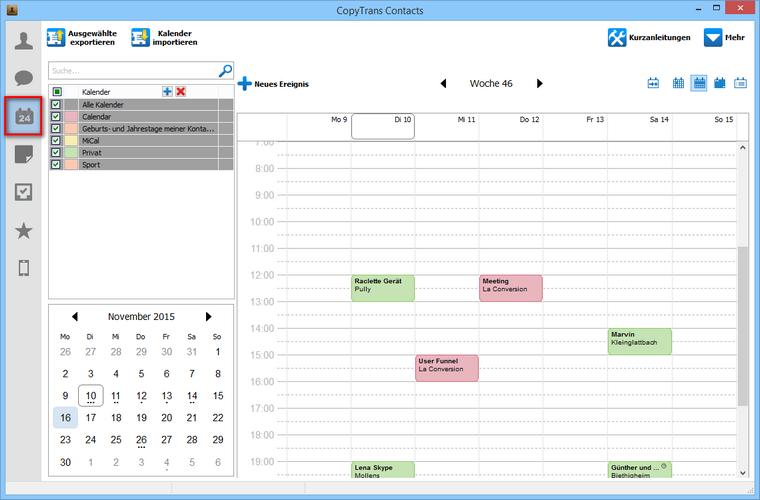 iPhone Kalender am PC sichern