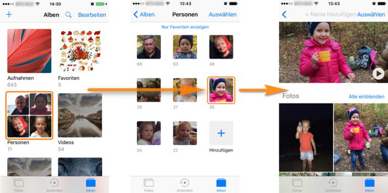 Mit iPhone die Andenken-Clips erstellen und am PC