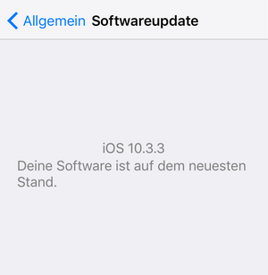 iPhone iOS aktualisieren