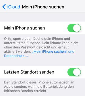 Mein iPhone suchen aktivieren